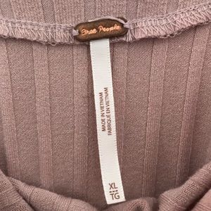 Free People Tops - Free People | Pink Ribbed Long Sleeve Crop Top